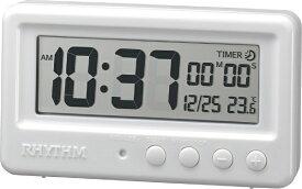 リズム時計 RHYTHM バスクロック アクアプルーフ 白 8RDA72SR03 [デジタル]