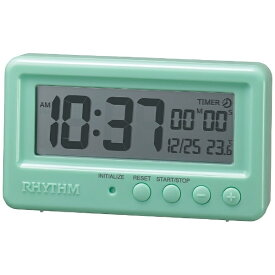 リズム時計 RHYTHM バスクロック アクアプルーフ 緑 8RDA72SR05 [デジタル]