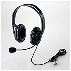 エレコム ELECOM ヘッドセット ブラック HS-HP28BK [φ3.5mmミニプラグ /両耳 /ヘッドバンドタイプ][HSHP28BK]