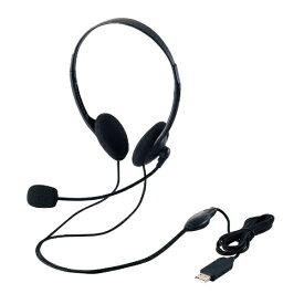 エレコム ELECOM ヘッドセット ブラック HS-HP27UBK [USB /両耳 /ヘッドバンドタイプ][HSHP27UBK]