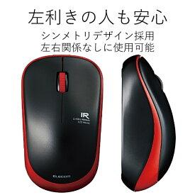 エレコム ELECOM M-IR07DRRD マウス M-IR07DRシリーズ レッド [IR LED /3ボタン /USB /無線(ワイヤレス)][MIR07DRRD]