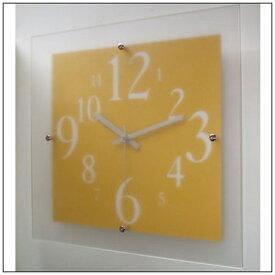 フォーカススリー FOCUS THREE 掛け時計 ミスティナンバークロック イエロー V-057