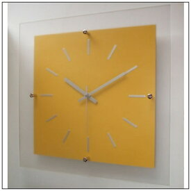 フォーカススリー FOCUS THREE 掛け時計 ミスティナンバークロック イエロー V-059