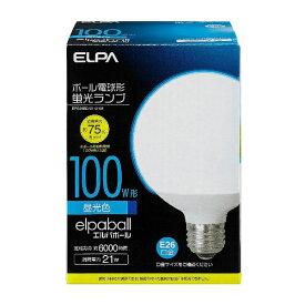 ELPA エルパ EFG25ED/21-G101 電球形蛍光灯 エルパボール ホワイト [E26 /昼光色 /1個 /100W相当 /一般電球形 /全方向タイプ][EFG25ED21G101]