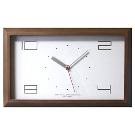 フォーカススリー FOCUS THREE 電波掛け時計 黄金比の時計 ブラウン V-0001 [電波自動受信機能有]