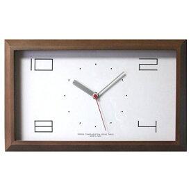 フォーカススリー FOCUS THREE 掛け時計 黄金比の時計 ブラウン V-0002