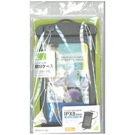 ラスタバナナ RastaBanana スマートフォン用[周囲 195mm/5.5インチ] 防水ケース Lサイズ ブラック RBOT204