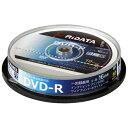 アールアイ 録画用 DVD-R 1-16倍速 4.7GB 10枚 【インクジェットプリンタ対応】 DRCP16XPW10RDD