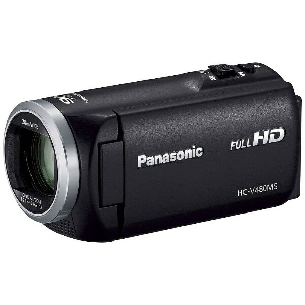 【送料無料】 パナソニック Panasonic SD対応 32GBメモリー内蔵フルハイビジョンビデオカメラ(ブラック) HC-V480MS-K[HCV480MS]