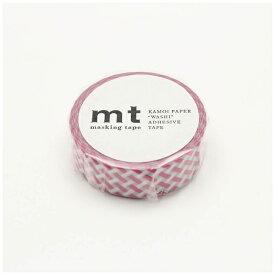 カモ井加工紙 KAMOI mt 1P 編みチェック・ピンク MT01D333