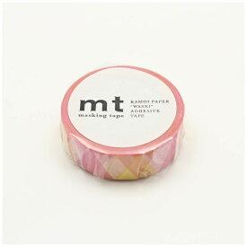 カモ井加工紙 KAMOI mt 1P 三角とダイヤ・ピンク MT01D335