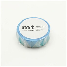 カモ井加工紙 KAMOI mt 1P 三角とダイヤ・ブルー MT01D336
