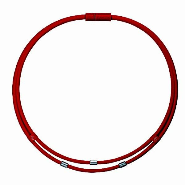 コラントッテ ネックレス ワックルネック TWIN(Lサイズ/レッド) ABAAU02L