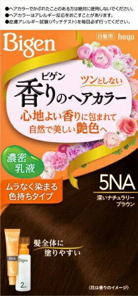 ホーユー hoyu Bigen(ビゲン) 香りのヘアカラー 乳液 5NA 深いナチュラリーブラウン 〔カラーリング剤〕
