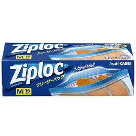 旭化成ホームプロダクツ Asahi KASEI Ziploc(ジップロック)フリーザーバッグ Mサイズ 16枚入