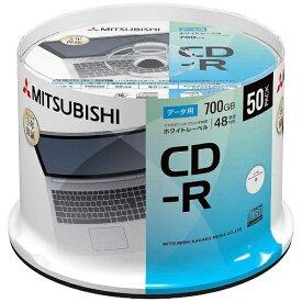 三菱ケミカルメディア MITSUBISHI CHEMICAL MEDIA 【ビックカメラグループオリジナル】データ用CD-R 700MB 50枚【スピンドル / インクジェットプリンタ対応】 SR80FP50SD1-B【point_rb】