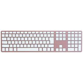 MATIAS 【スマホ/タブレット対応】 ワイヤレスキーボード [Bluetooth・Android/IOS/Mac] Matias Wireless Aluminum Keyboard Rose Gold 日本語配列 FK418BTRG-JP[FK418BTRGJP]