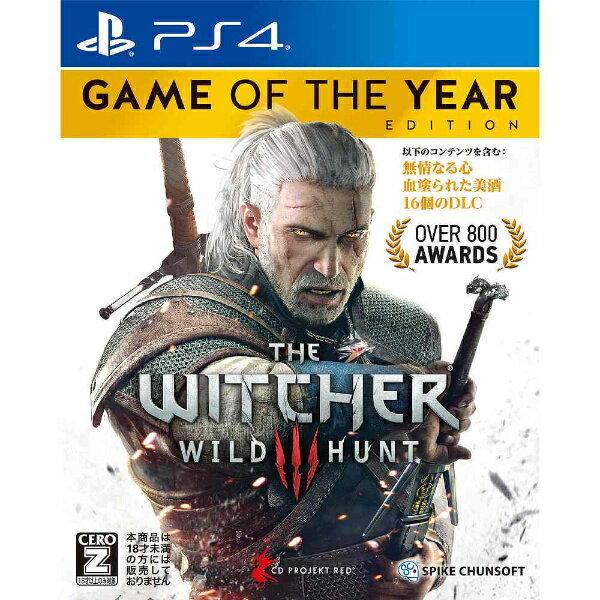 【送料無料】 スパイクチュンソフト ウィッチャー3 ワイルドハント ゲームオブザイヤーエディション【PS4ゲームソフト】