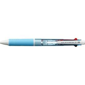三菱鉛筆 MITSUBISHI PENCIL [油性ボールペン] ジェットストリーム 2色ボールペン 水色 (ボール径:0.7mm、インク色:黒・赤) SXE230007.8