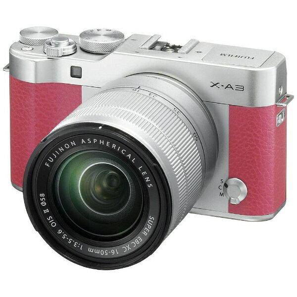 【送料無料】 フジフイルム FUJIFILM FUJIFILM X-A3【レンズキット】(ピンク/ミラーレス一眼カメラ)[FXA3LKXCP]