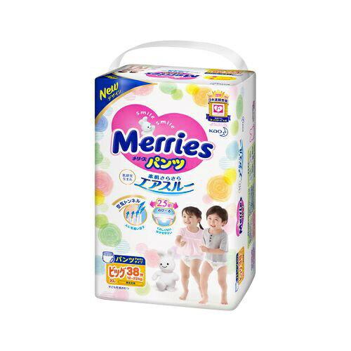 花王 Kao Merries(メリーズ) パンツ さらさらエアスルー ビッグサイズ 38枚