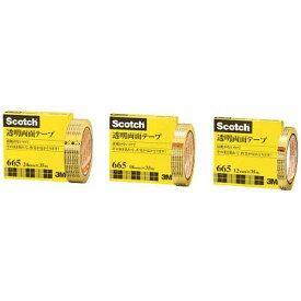 3Mジャパン スリーエムジャパン 3M 透明両面テープ ライナーなし 12mmX35m 巻芯径76mm 665-3-12