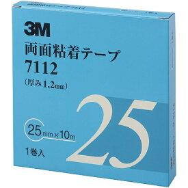 3Mジャパン スリーエムジャパン 3M 両面粘着テープ 7112 25mmX10m 厚さ1.2mm 灰色 1巻入り 7112 25 AAD