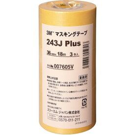 3Mジャパン スリーエムジャパン 3M マスキングテープ 243J Plus 36mmX18m 3巻入り 243J 36