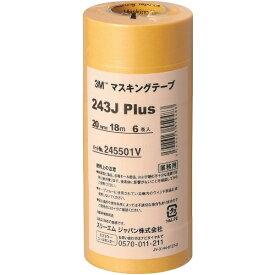 3Mジャパン スリーエムジャパン 3M マスキングテープ 243J Plus 20mmX18m 6巻入り 243J 20