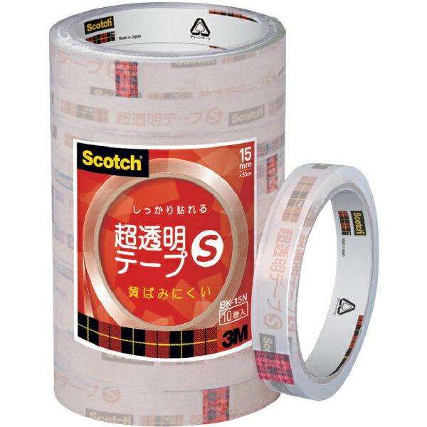 3Mジャパン スリーエムジャパン 3M スコッチ 超透明テープS 15mmX35m 10巻入シュリンクパック BK-15N