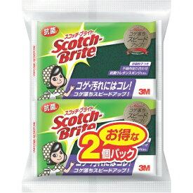 3Mジャパン スリーエムジャパン 3M スコッチブライト 抗菌ウレタンスポンジたわしS 2個入りパック S-21KS 2PM[スコッチブライト Scotch Brite]