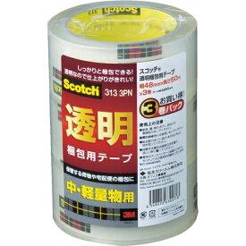 3Mジャパン スリーエムジャパン 3M 透明梱包用テープ 48mmX50m 3巻パック 中・軽量物用 313 3PN