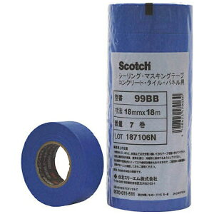 3Mジャパン スリーエムジャパン 3M マスキングテープ(コンクリート・タイル・パネル用)21mmX18m 6巻入 99BB 21X18