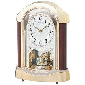 セイコー SEIKO 置き時計 【スタンダード】 茶/金 BY237G [電波自動受信機能有]