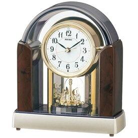 セイコー SEIKO 置き時計 【スタンダード】 濃茶マーブル模様 BY238B [電波自動受信機能有]
