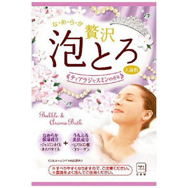 牛乳石鹸 お湯物語贅沢泡とろティアラジャスミン30g
