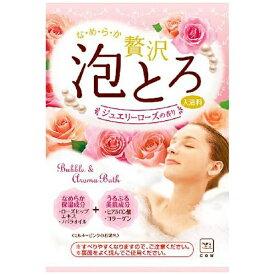 牛乳石鹸共進社 COW BRAND SOAP KYOSHINSHA お湯物語 贅沢泡とろジュエリーローズ(30g) [入浴剤]