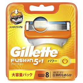ジレット Gillette Gillette(ジレット) フュージョン 5+1 パワー 替刃 8個入 〔ひげそり〕