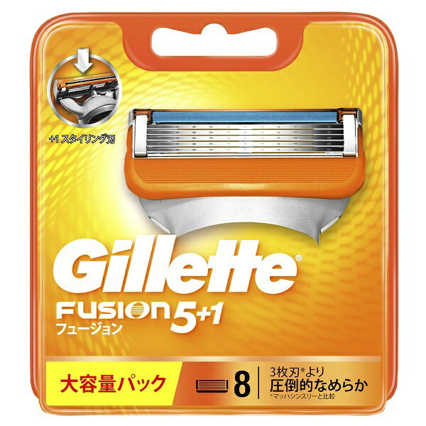 ジレット Gillette 【Gillette(ジレット)】フュージョン 5+1 替刃 8個入