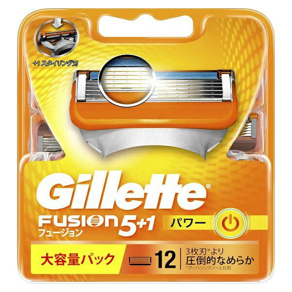 ジレット Gillette Gillette(ジレット) フュージョン 5+1 パワー 替刃 12個入 〔ひげそり〕