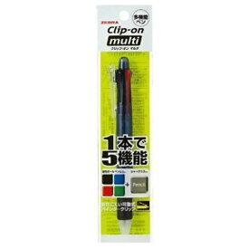 ゼブラ ZEBRA [多機能ペン] クリップ-オン マルチ 黒 (ボール径:0.7mm+芯径0.5mm) パック入り P-B4SA1-BK