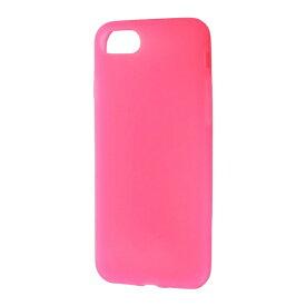 レイアウト rayout iPhone 7用 シリコンケース シルキータッチ ピンク 半透明 RT-P12C1/P