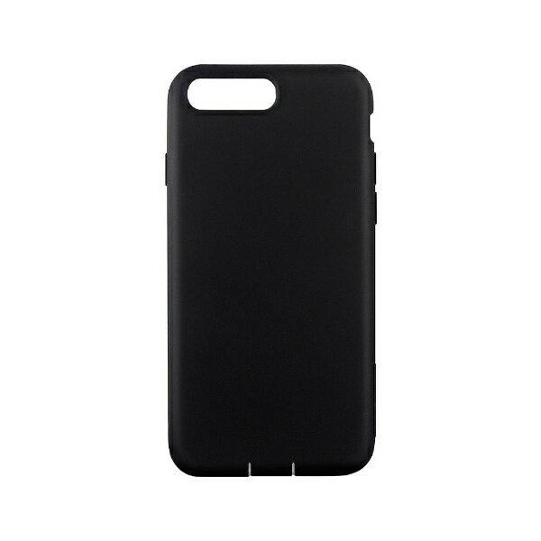 トリニティ iPhone 7 Plus用 Cushion 衝撃吸収シリコンケース ブラック Simplism TR-CSIP165-BK