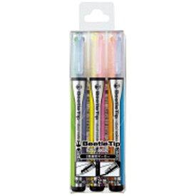 コクヨ KOKUYO [蛍光ペン] 2色蛍光マーカー ビートルティップ・デュアルカラー 3本セット PM-L303-3S