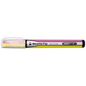 コクヨ KOKUYO [蛍光ペン] 2色蛍光マーカー ビートルティップ・デュアルカラー (イエロー/ピンク) PM-L303-1