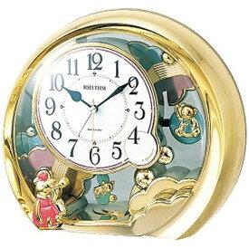 リズム時計 RHYTHM 目覚まし時計 ファンタジーランド504SR 金色 4SE504SR18
