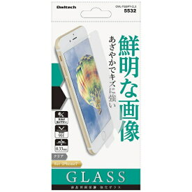 OWLTECH オウルテック iPhone 7用 液晶保護強化ガラス クリア 0.33mm厚 OWL-TGSIP7-CL3