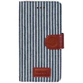 OWLTECH オウルテック iPhone 7 Plus用 kuboq 手帳型ケース PU カードポケット付 スタンド機能 ストライプ柄 OWL-CVIP7P06SP-NV