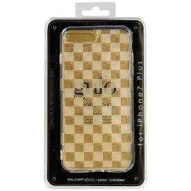OWLTECH オウルテック iPhone 7 Plus用 gufo TPUケース クリア ストラップホール付 チェッカード OWL-CVIP7P16CD-CL