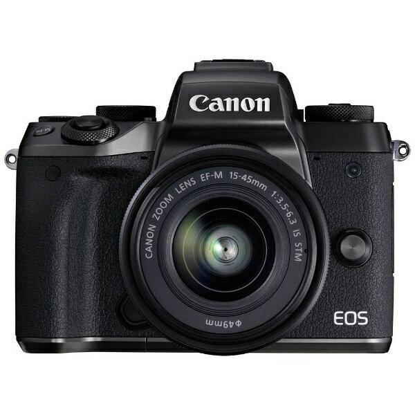 【送料無料】 キヤノン CANON EOS M5【EF-M15-45 IS STM レンズキット】(ミラーレス一眼カメラ)[EOSM51545ISSTMLK]
